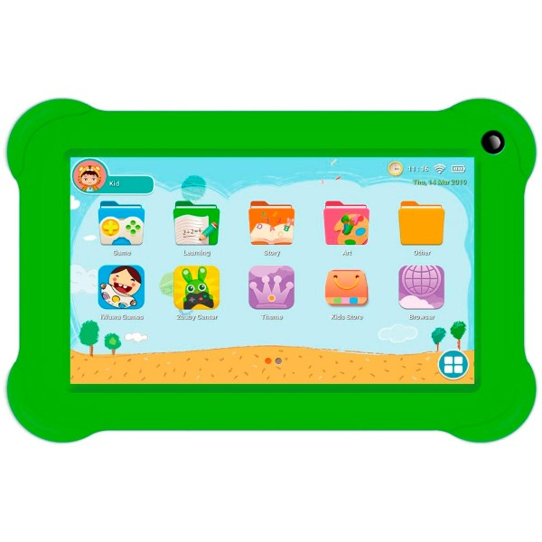 Innjoo k701 blanca tablet wifi 7'' protector verde tft quadcore 16gb 1gb ram cam 2mp selfies 0.3mp
