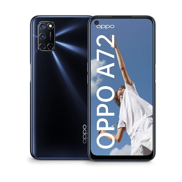 Oppo a72 twilight black móvil 4g dual sim 6.5'' fhd+/8core/128gb/4gb ram/48+8+2+2mp/16mp