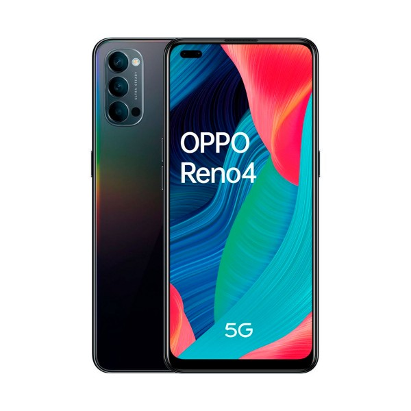 Oppo reno 4 5g negro espacial móvil dual sim 6.4'' amoled fhd+ octacore 128gb 8gb ram tricam 48mp selfies 32mp