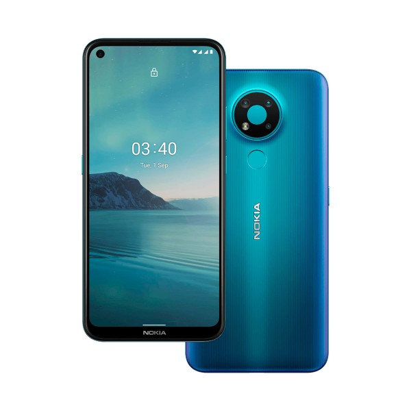 Nokia 3.4 azul móvil 4g dual sim 6.39'' hd+ octacore 64gb 4gb ram tricam 13mp selfies 8mp